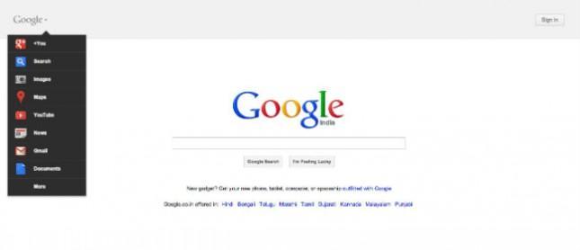 Google prueba nueva interfaz para su página de inicio